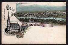 82878 AK Rosenheim Litho Kirche 1897