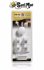 avi Mae Magnetic Baby Safety Locks for Cabinets or Drawers (4 Locks + 1 Key)
