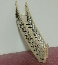 Lancaster 1:24 scale Victorian right-curved Staircase