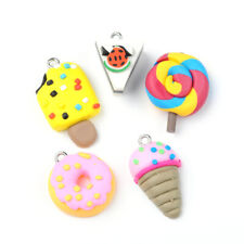 Lovely Foond Style Polymer Clay Pendants/Links Mixed Color 5pcs/set DIY Charms