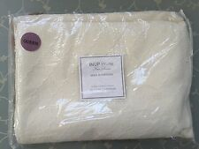 INUP OFF WHITE MATELASSE QUATREFOIL QUEEN COVERLET Portugal  Cotton / Poly NEW
