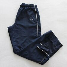 Nike Sportswear Mens Track Pants Size XL Blue Zip Leg Elastic Waist Drawstring