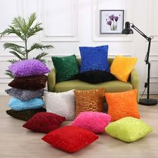"17"" Square Soft Velvet Fleece Cushion Cover Throw Pillow Case Home Sofa Decor"