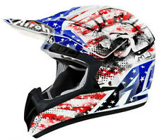 AIROH CASCO CR901 PATRIOT U.S.A AMERICA RED HELMET MOTORCYCLE CROSS ENDURO TG XS