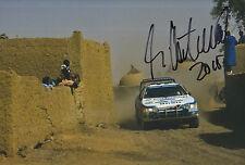 Ari Vatanen mano firmado 12x8 Foto Peugeot Rally Dakar 1.