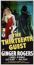 The Thirteenth Guest 1932 Ginger Rogers Murder Mystery Comedy Movie DVD