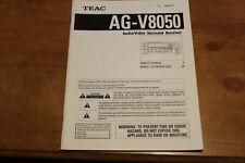 TEAC AG-V3020 Audio/Video Surround Receiver - Original Owner's Manual