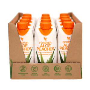 Forever Living Aloe Vera Peaches (Pack of 12) -great for adults & kids! KOSHER