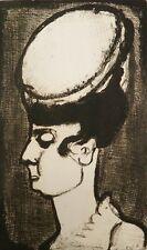 Georges ROUAULT : Femme au chapeau # GRAVURE SIGNEE # RARE # 1928 # PERE UBU
