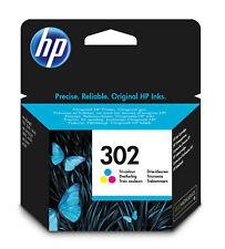 HP 302 Tri-Colour Genuine Original Ink Cartridge 4ml F6U65A.