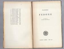 platone - fedone - 1927 a cura di manara valgimigli