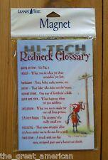 Leanin Tree Flexible Magnet Redneck Glossary Hi-Tech US