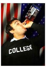 John Belushi Whiskey Poster! American Flag College SNL NBC Never Hung