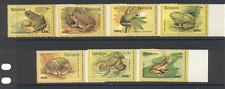 Tanzania 1996 Frogs/Amphibians/Animals 7v set ref:s2499