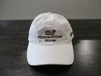 Vineyard Vines Hat Cap Strap Back White Blue Chicago Whale Adjustable Mens