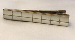 Vintage Austria Mother of Pearl Tie Clip Bar Clasp