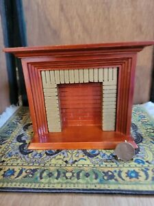 Braxton Payne Vintage 1:12 Miniature Dollhouse Colonial Fireplace