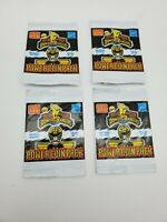 1994 McDonalds Mighty Morphin Power Rangers Power Coin Pack LOT OF 4 NEW SEALED