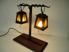 88aadbc8fc29a Arts   Crafts Lantern Frame Table Lamp Hammered Copper   Iron Manner of  Stickley