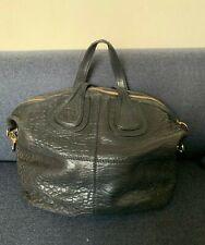 GIVENCHY Nightingale Satchel Bag Large - Black Leather