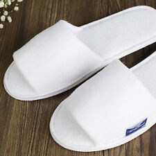 MEN WHITE TOWELLING TERRY HOTEL DISPOSABLE OPEN TOE SLIPPERS GUEST Hot Causal