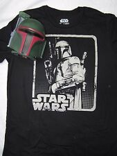 New - Collectible Boba Fett figure, Mens Star Wars T-Shirt inside. (size small)