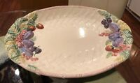 Antique Big Oval Plate Porcelain made in Portugal  Hand Made
