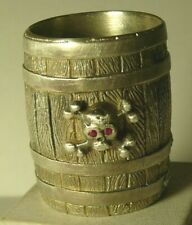 Hussar Cup Cask Skull Silver 88 Imperial Russia 1916 Double Eagle Rubies