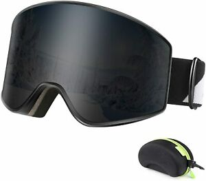 Ski Goggles Magnetic Interchangeable Dual Lens for Men Women and Youth, OTG Snow