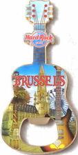 Hard Rock Cafe BRUSSELS 2017 Guitar MAGNET Bottle Opener City Tee T-Shirt V16