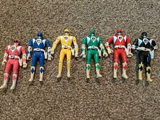 VINTAGE Mighty Morphin Power Rangers Ninja Flip head Ranger Lot of 5 Bandai 1993