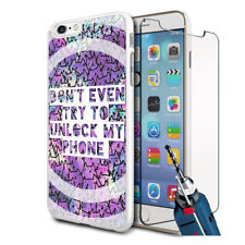 Unlock My Phone Design Hard Case Cover & Glass For Various Mobiles