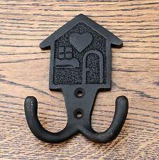 Gancho para Ropa Hogar 4 pulgadas Sombrero Negro De colección Rústico pequeño Hierro Forjado Metal
