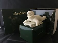 """Department 56 SNOWBABIES Bisque Figurine """"HOLD ON TIGHT''"""