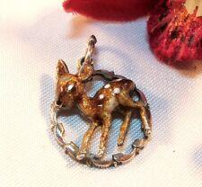 Rehkitz Smalto Cuore Ciondolo Bambi piccolo cerbiatta daglii charms argento 835 Emaile/BL 088