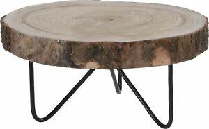 Natural Paulownia Wood Log Slice Large Tree Slice Centerpiece Stand