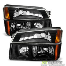 4PC 2002-2006 Chevy Avalanche Body Cladding Model Headlights+Bumper Signal Lamps