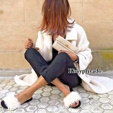 ZARA Ecru Off White Natural Long Soft Wool Mohair Blend Knit Coat S BNWT