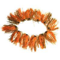 12 Bundles 50 Strands Silicone Jig Skirts DIY Rubber Jig Lures Tiger&Orange