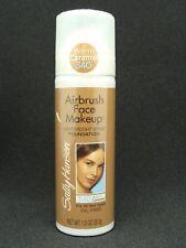 SALLY HANSEN Airbrush Face Makeup WARM CARAMEL 340 Spray FOUNDATION 1 oz SEALED