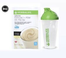 NEW Herbalife Formula1 Cookies 'n Cream + PDM Vanilla On The Go 7pack/Shaker cup