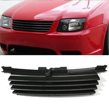 For VW Jetta Bora MK4 1999-2004 Front Hood Grille Badgeless Grill &Notch Cover