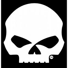 "HARLEY DAVIDSON WILLIE G. SKULL  9"" AUTO EMBLEM STICKER DECAL"