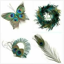 10 Pcs Craft Natural Peacock Feathers Wedding Party Bouquet Decoration 8.5
