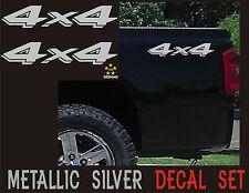 4x4 Decals Set Dodge Dakota, Ram Sticker (Set of 2) Metallic Silver