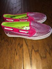 New Girls Sperry Pink Glitter Size 12.5 12 1/2