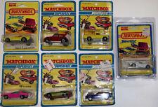 Matchbox Superfast Blister Card Pack Lot Diecast Hot Piston Popper Boss Mustang