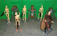 Star Wars AOTC Count Dooku + Battle Droids + Destroyer Droid Action Figure Lot