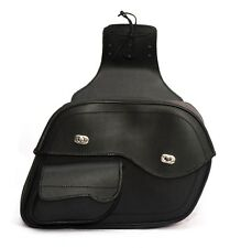 HIGH QUALITY LEATHER SADDLE BAGS SET FOR HARLEY DAVIDSON  Triumph ALL MODELS