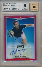 Andy Murray 2016 Leaf Metal Red Refractor REF 3/3 BGS 9 10 Auto